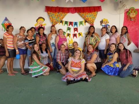 CRAS promove arraiá com mulheres acompanhadas pelos grupos do serviço