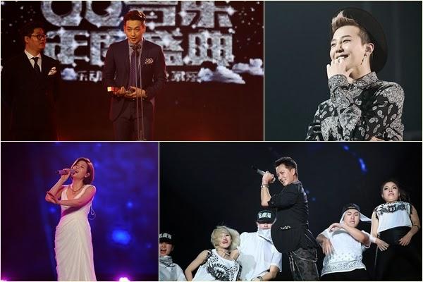 Korea Observer G Dragon Rain Hangeng Win At Qq Music Awards