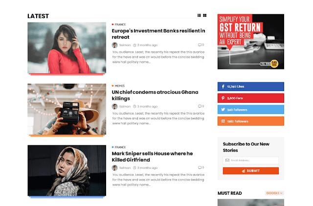 Story Mag - Blogger Premium  News & Magazine Template 7