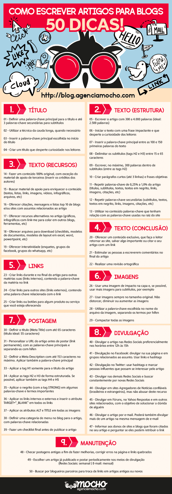 Blog do Mocho - como escrever artigos para blogs - infografico