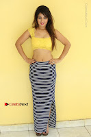 Cute Telugu Actress Shunaya Solanki High Definition Spicy Pos in Yellow Top and Skirt  0520.JPG
