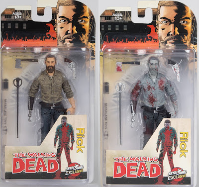 "Skybound Entertainment Exclusive The Walking Dead Comic Book ""A New Beginning"" Rick Grimes Action Figure by McFarlane Toys - Color and Bloody Black & White"