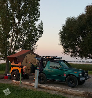 Sleeping setup in Idaho