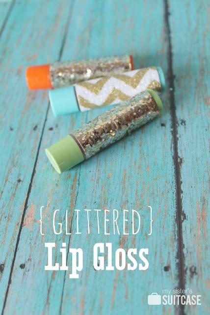 how to make glittered chapstick