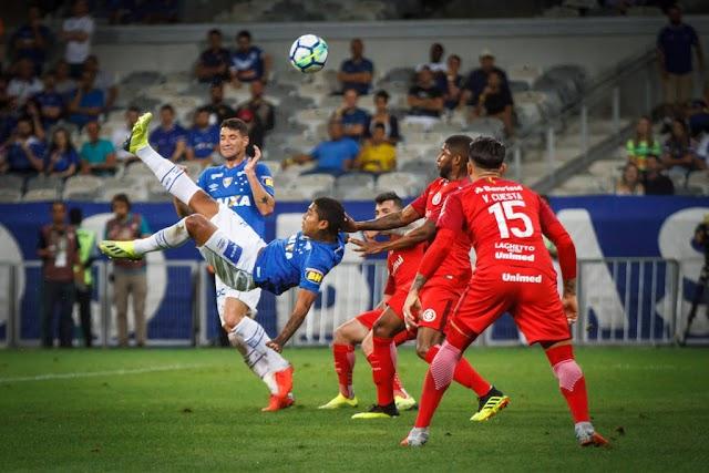 Inter fica no empate com Cruzeiro e perde chance de encostar na liderança