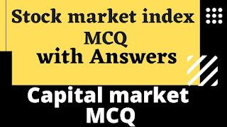 Stock market index MCQ