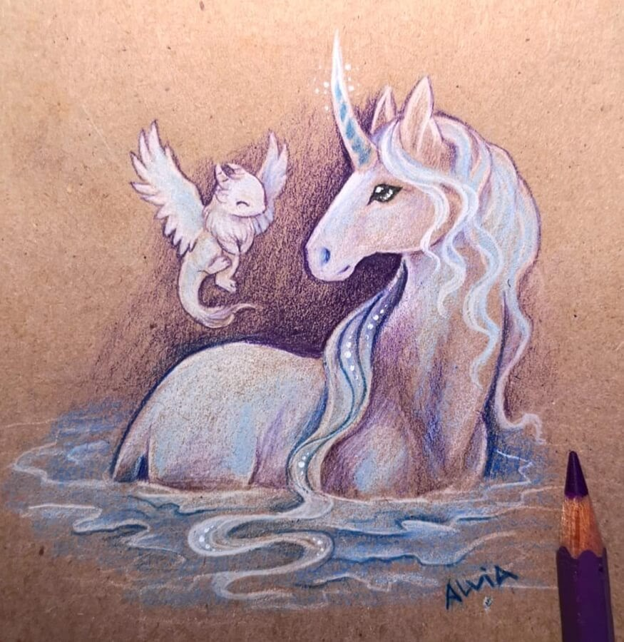 09-Unicorn-and-baby-Dragon-Alvia-Alcedo-www-designstack-co