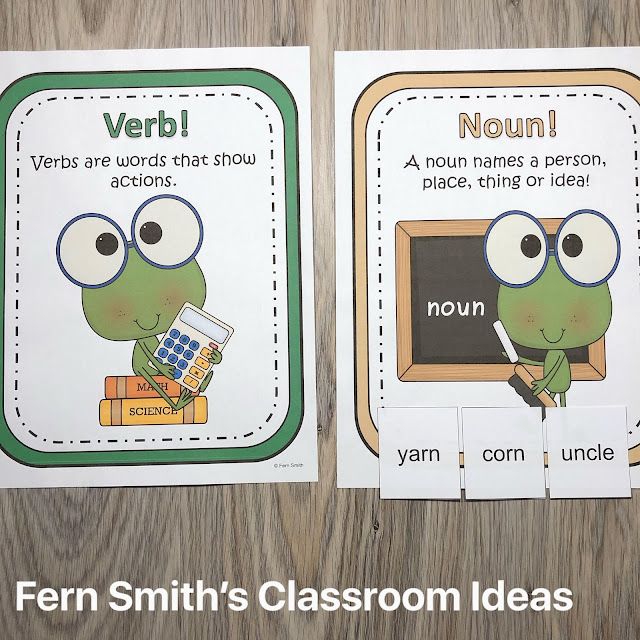 Grab This Back to School Noun or Verb? Center Games Resource For Your Classroom Centers Today!