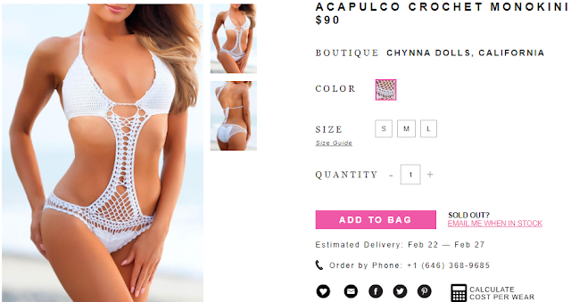 Women's Clothing Sale: ACAPULCO CROCHET MONOKINI (RMNOnline.net | RMNOnlineFashion.com)