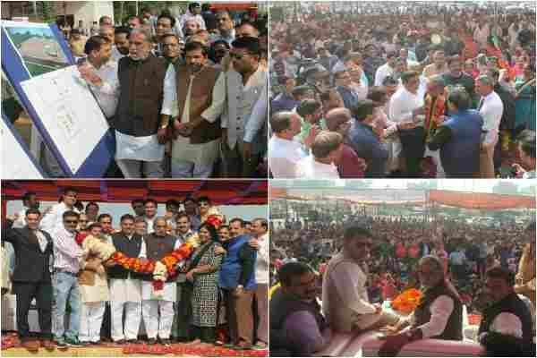 minister-kph-and-devender-chaudhary-lays-foundation-stone-indor-stadium-sector-31