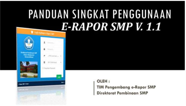 Updater E-Raport SMP 2017 Versi 1 1 berikut Panduannya
