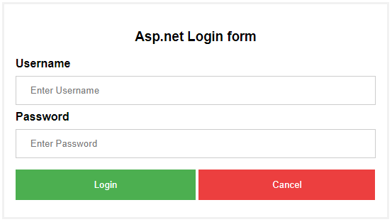 login page design in asp net c# using bootstrap