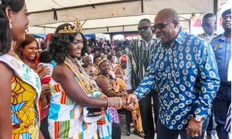 Prez Mahama Praises Ghana's Most Beautiful Lady...