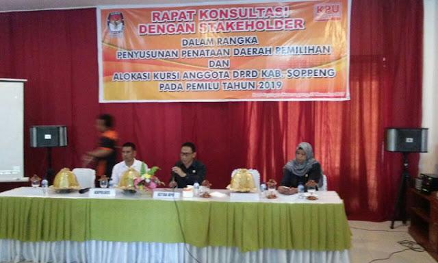 KPU Soppeng Gelar Rapat Penetapan Dapil Untuk Pileg 2019