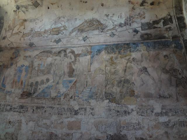 Pinturas de Qusair Amra en Jordania