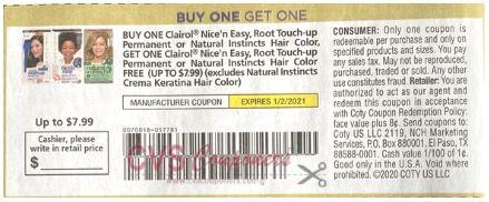 clairol bogo free coupon