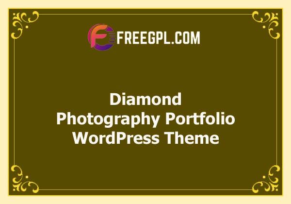Diamond - Photography Portfolio WordPress Theme Nulled Download Free