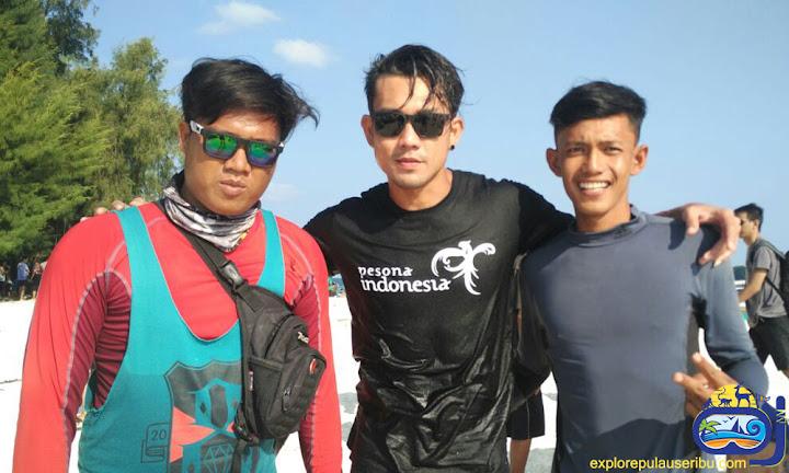 team explore pulau harapan