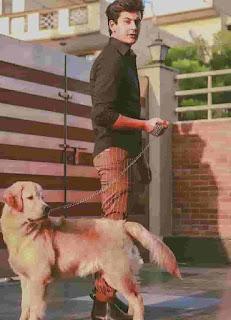 Manjul Khattar With Dog