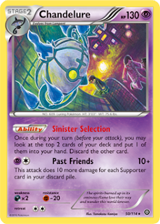 Chandelure Steam Siege Pokemon Card