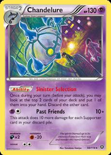 Chandelure Steam Siege Pokemon Card