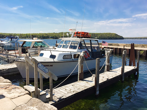 Shoreline Charters in Gills Rock Door County offers lighthouse tours or private charters out to Plum Island
