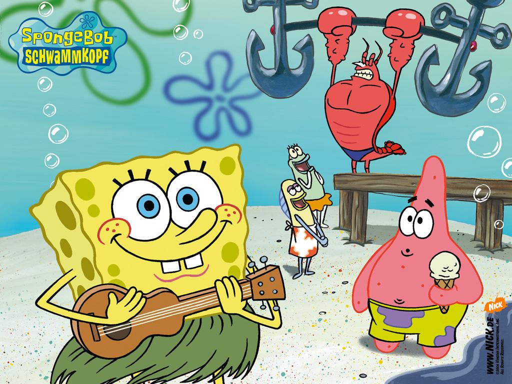 American top cartoons: Spongebob squarepants friends