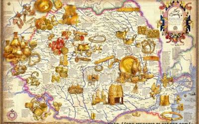 Descoperiri întâmplatoare şi arheologice de tezaure de aur, argint, bronz specifice lumii geto-dacice, spaţiul în care sunt menţionaţi agatârşii – traci strămoşi ai geto-dacilor - , cunoscători în exploatarea aurului (la Herodot)