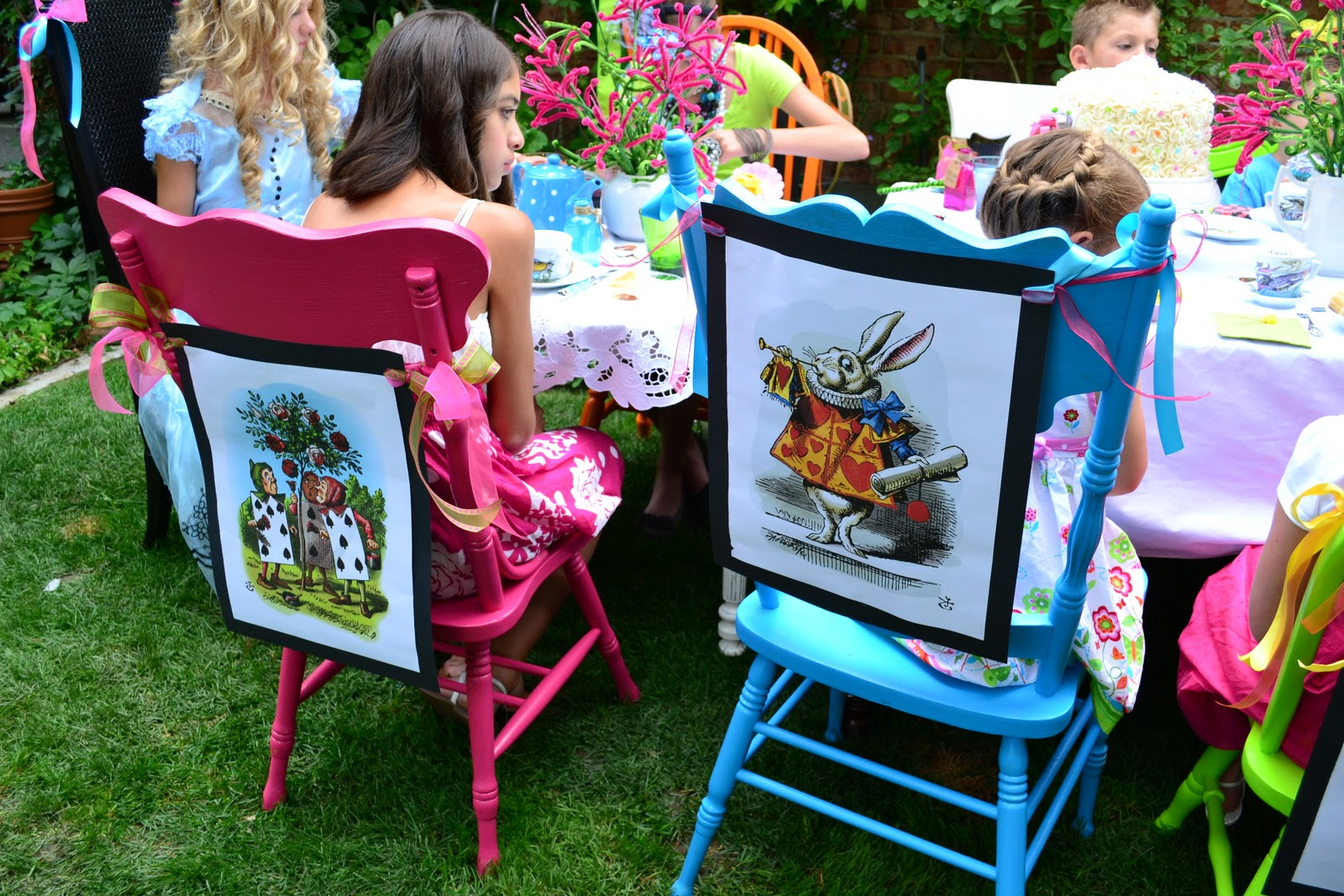alice in wonderland chair steamer covers australia a little cuppa tea party