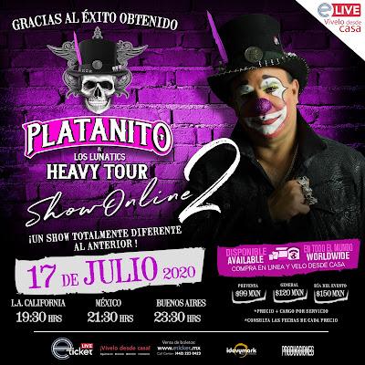 Platanito Show presentará su segundo espectáculo de manera de streaming