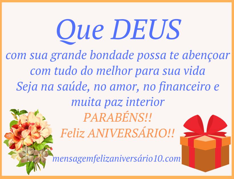 mensagem de aniversario evangelica