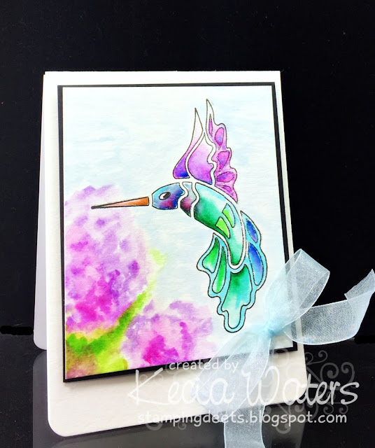 Terry Medaris, Kecia Waters, Zig Clean Color Real Brush, Hummingbird, watercoloring