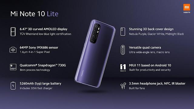 سعر و مواصفات Xiaomi Mi Note 10 Lite