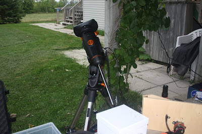 Celestron CGEM equatorial mount being tested - 1 hour later