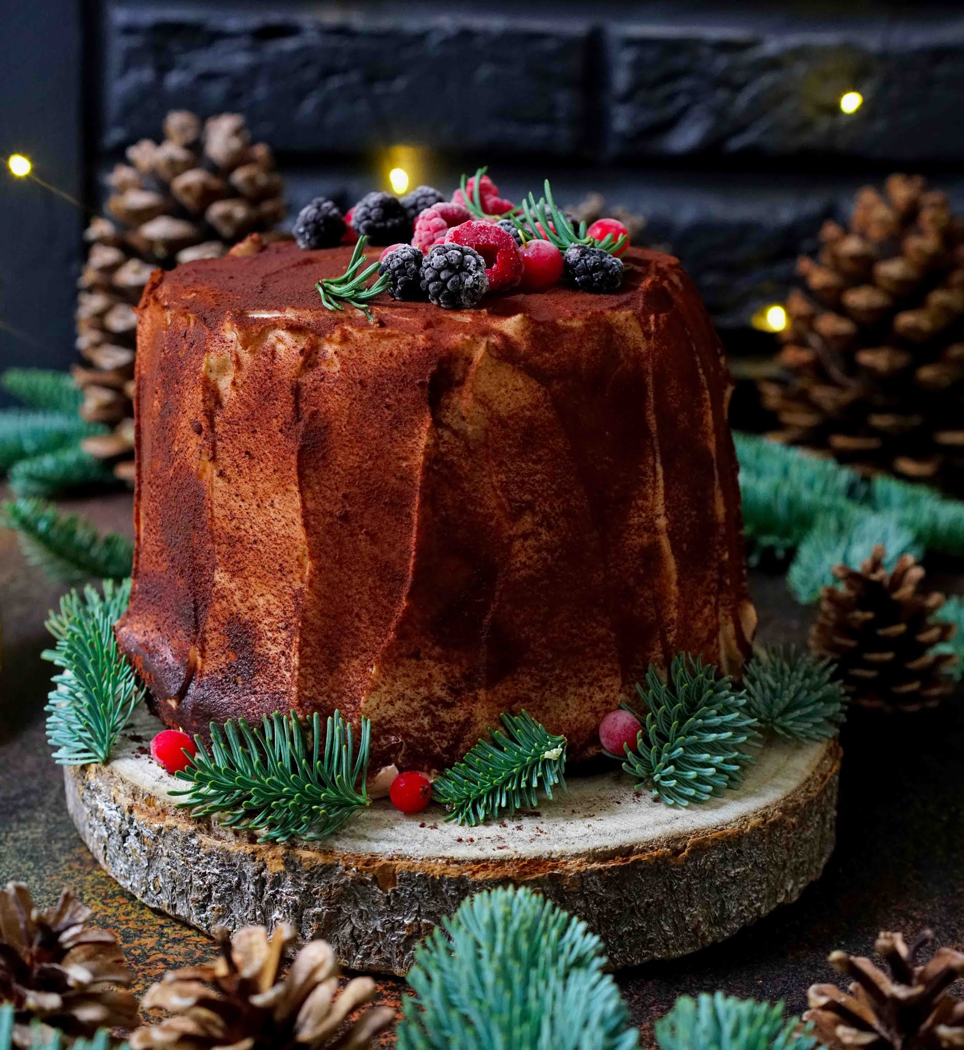 biscuit roulé , crème de marrons , dessert de fêtes