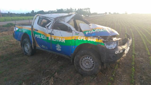 Trágico! Policial Militar morre após capotar viatura da PM na RO 421 [Atualizado]