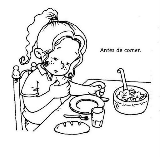 Niño Comiendo Sopa Para Colorear Imagui