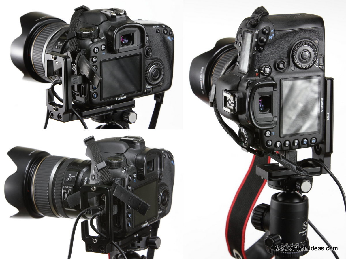 Desmond DAL-02 on Canon EOS 7D mounted on Ball Head w/ RR & USB cables