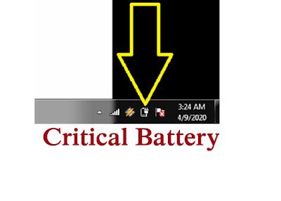 cara setting peringatan batrei lemah di laptop
