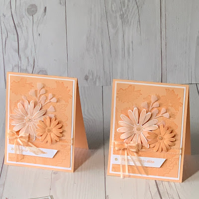 Monochromatic greeting card using Daisy Garden Stamp Set