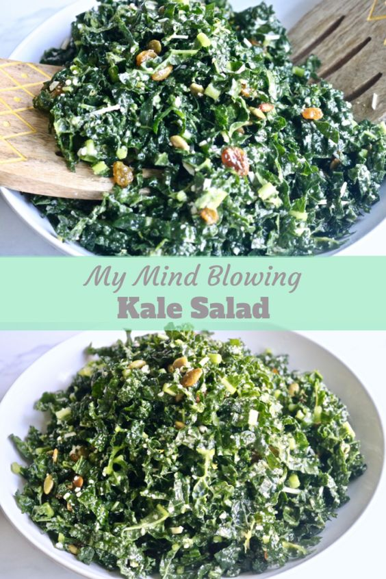 MY MIND BLOWING KALE SALAD! #mymind #blowing #kale #salad #saladrecipes #vegetarianrecipes #veggies #easyvegetarianrecipes #vegan #veganrecipes