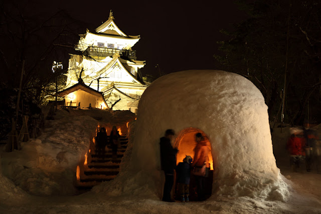 Yokote Kamakura Snow Festival, Akita