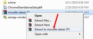 extract file moodle 3.7