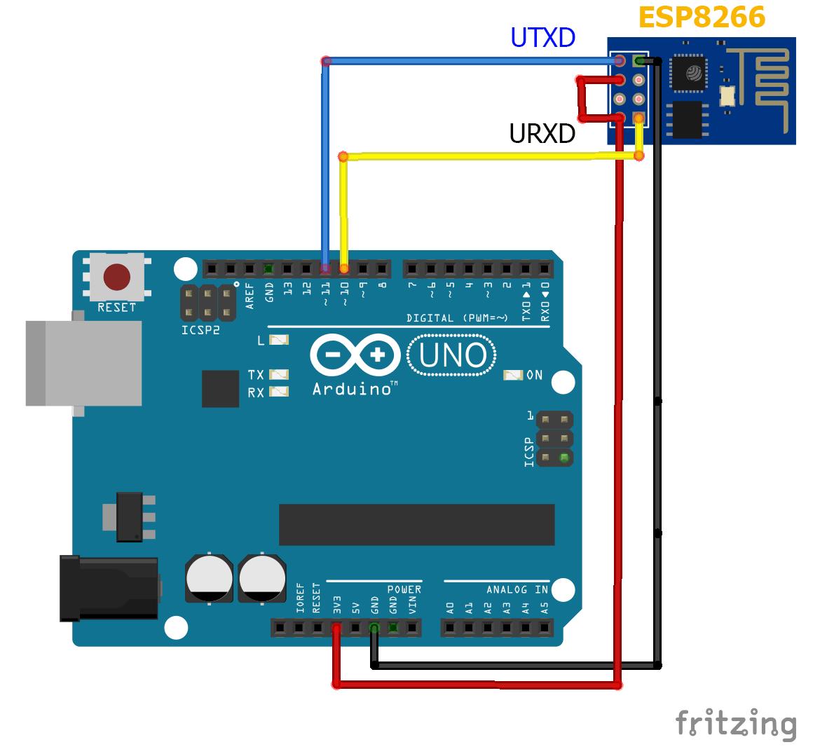 ArduinoでESP8266(ESP-01)を制御+通信する #2