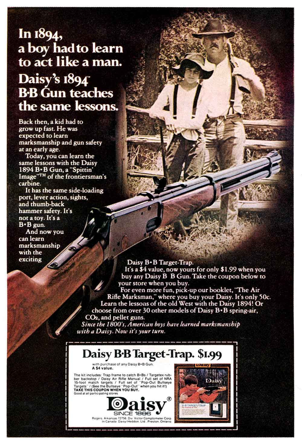 In 1894, a Boy Had to Act Like a Man (Daisy Air Rifles) - Monster