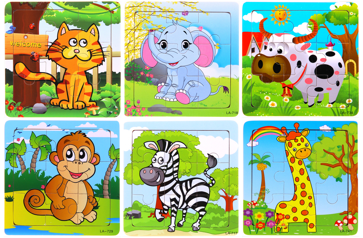 Online Toys Shop Penang Malaysia 16 Kids Puzzle 6 X