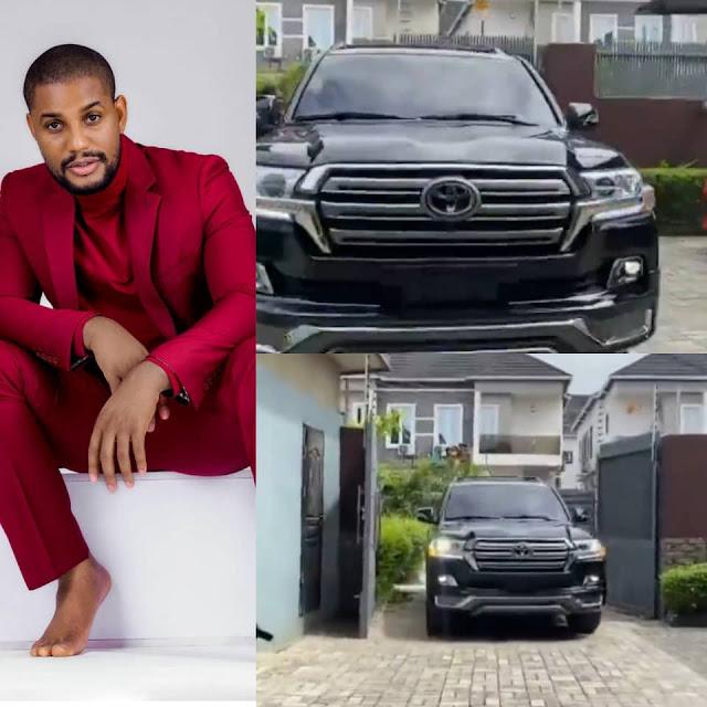 Actor, Alex Ekubo buys a brand new Toyota Landcruiser(Video)