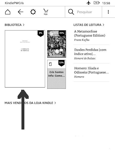 Kindle - print da tela inicial
