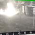 Câmera de segurança flagra pessoa ateando fogo em Ecoponto na cidade de Maringá