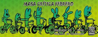 Bicicleteada Masa crítica de Febrero (Obelisco de Montevideo, 14/feb/2016)